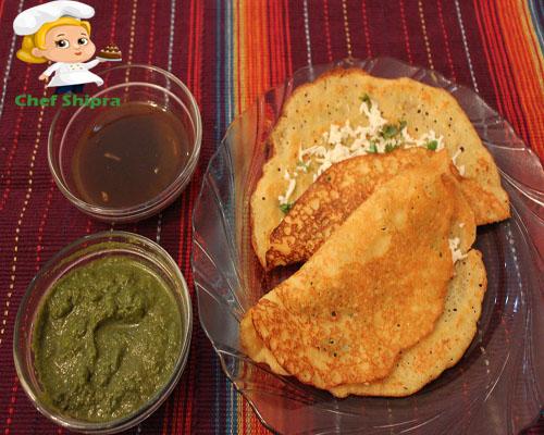 नवरात्रि स्पेशल : सूजी और साबूदाना का स्वादिष्ट चीला