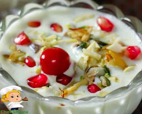 fruit cream, chef shipra